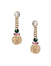 ASOS Jewel & Coin Drop Earrings