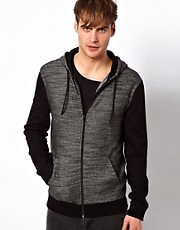 River Island Knitted Front Panel Hoodie