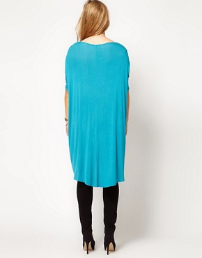 Image 2 ofASOS CURVE Exclusive Jersey Top With Dip Back
