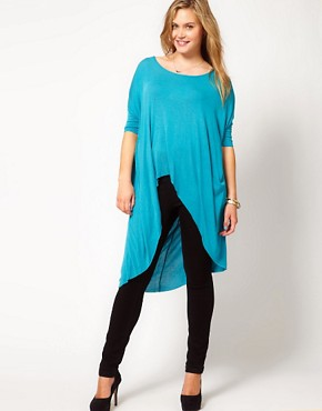 Image 4 ofASOS CURVE Exclusive Jersey Top With Dip Back