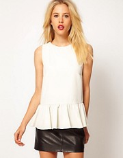 Mango Loose Peplum Top