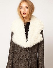 ASOS Faux Shearling Lapel Collar