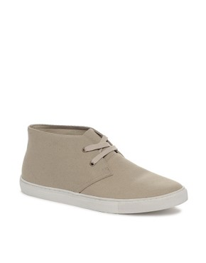 Image 1 ofASOS Canvas Desert Boots