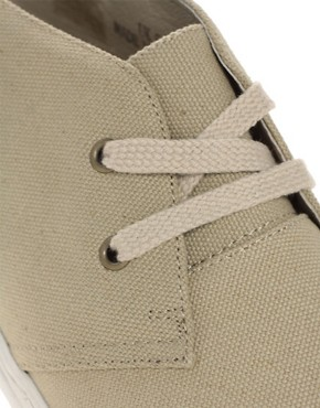 Image 2 ofASOS Canvas Desert Boots