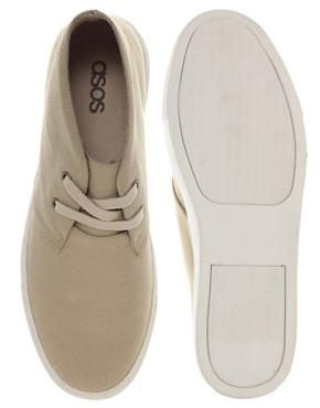 Image 3 ofASOS Canvas Desert Boots