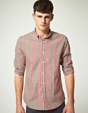 Image 1 ofASOS Slim Fit Gingham Shirt