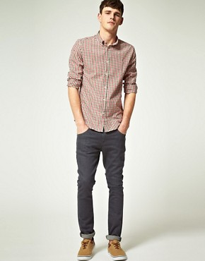 Image 4 ofASOS Slim Fit Gingham Shirt