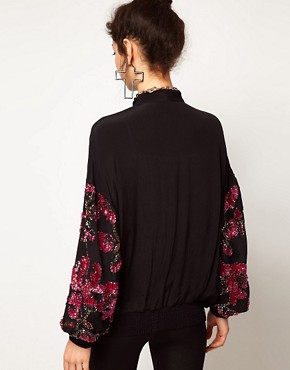 Image 2 ofASOS Bomber Jacket With Baroque Embellishment