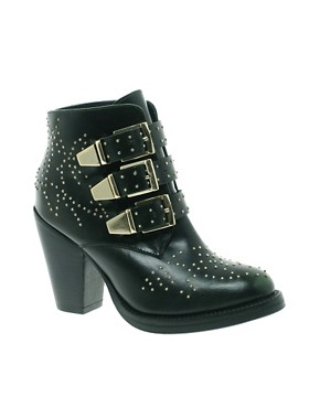 Image 1 of ASOS ASTRONOMY Studded Leather Ankle Boots