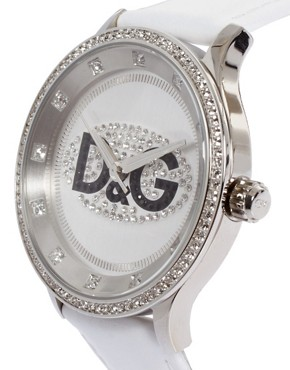 Image 4 ofD&amp;G White Analogue Prime Time Watch
