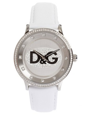 Image 1 ofD&amp;G White Analogue Prime Time Watch