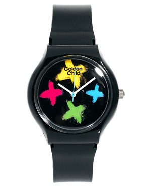 Image 1 ofGolden Child Neon Cross Plastic Watch