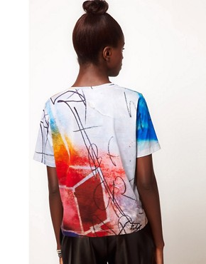 Image 2 ofLulu and Co Barry Regiate Rainbow Graphic Tee