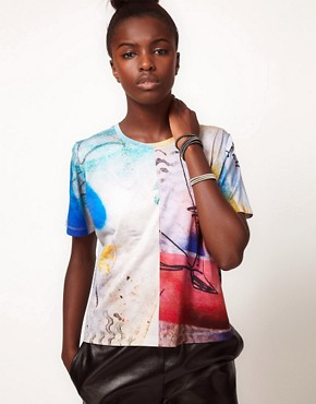 Image 1 ofLulu and Co Barry Regiate Rainbow Graphic Tee