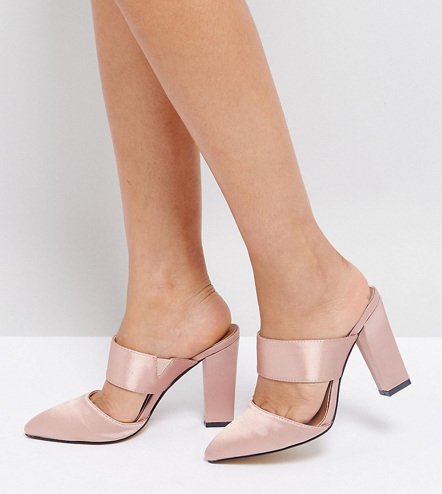 the-march-blush-satin-heeled-mules-pink