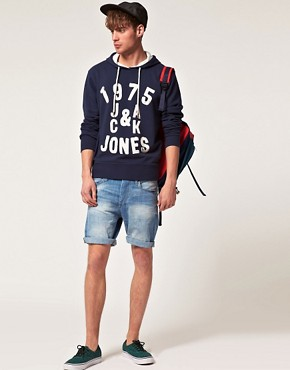 Image 4 ofJack &amp; Jones Intelligence Frankie Hooded Sweatshirt