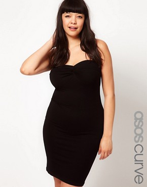 Image 1 ofASOS CURVE Exclusive Bodycon Bandeau Dress