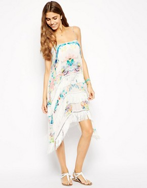 Talulah Sail Away Fringed Beach Dress