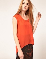 Kimberly Ovitz Sleeveless Top With Split Back