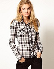 Pepe Jeans Checked Shirt With Studding