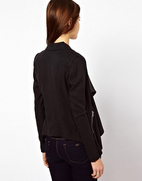Image 2 ofWarehouse Drape Jacket With Zips