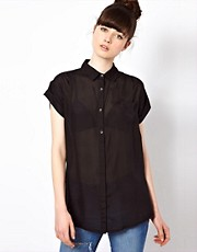 Won Hundred Hollow Shirt in Textured Silk