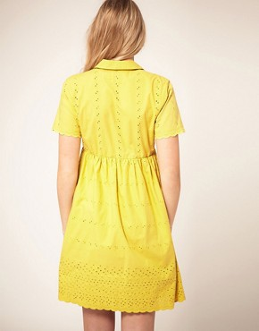 Image 2 ofASOS Maternity Shirt Dress With Embroidery