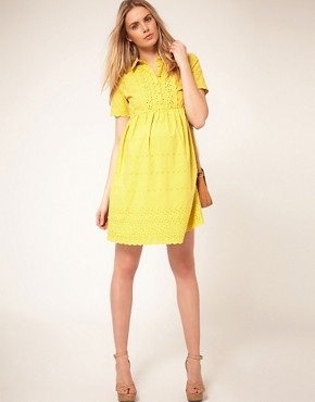 Image 4 ofASOS Maternity Shirt Dress With Embroidery