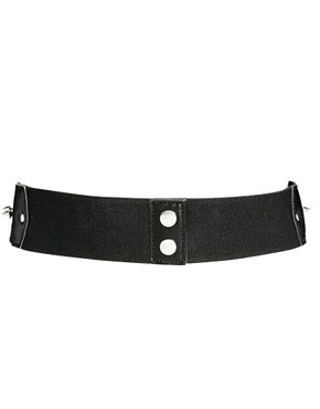 Image 3 ofASOS CURVE Cut Out And Stud Wide Waist Belt