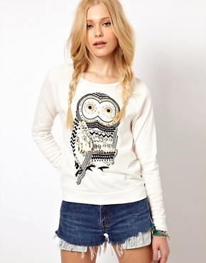 Image 1 ofRiver Island Owl Sweat Top
