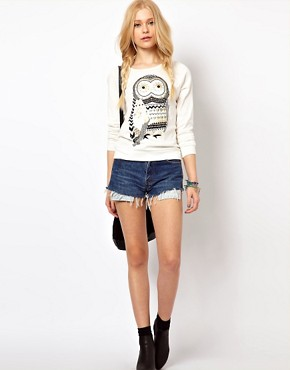 Image 4 ofRiver Island Owl Sweat Top