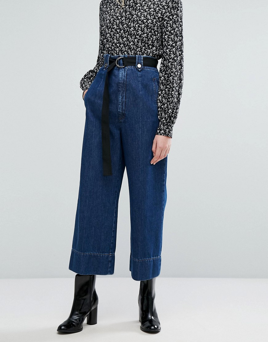 Sportmax Code Accorta Denim Trousers - Navy