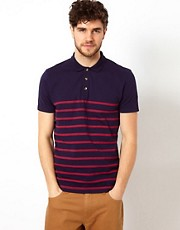 ASOS Polo With Bretton Stripe