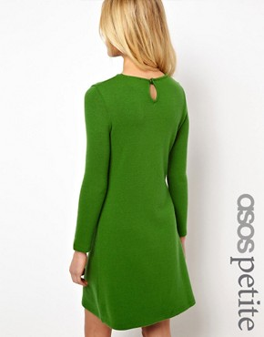 Image 1 ofASOS PETITE Exclusive Knitted Swing Dress