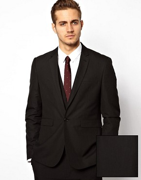 ASOS Slim Fit Suit Jacket in Black
