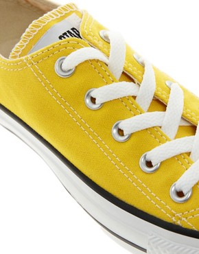 Image 4 ofConverse All Star Yellow Ox Trainers