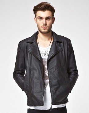 Image 1 ofASOS Leather Biker