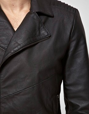 Image 3 ofASOS Leather Biker