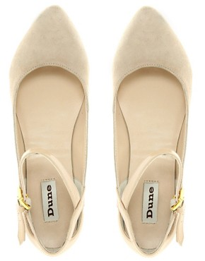 Image 3 ofDune Lexus Suede Strap Ballet Flats
