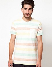 Edwin T-Shirt Marvin Multi Block Stripe