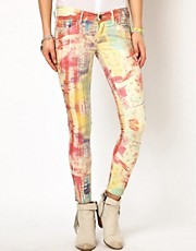 Pepe Jeans Multicoloured Print Skinny Jeans