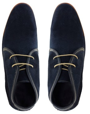 Image 3 ofH By Hudson Exclusive To ASOS Ousbourne Leather Chukka Boots