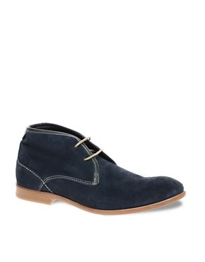 Image 1 ofH By Hudson Exclusive To ASOS Ousbourne Leather Chukka Boots