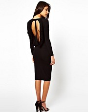 ASOS Midi Dress With Drape Back Detail