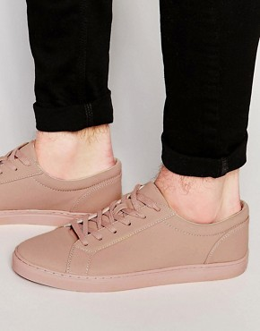 ASOS Lace Up Trainers in Pink