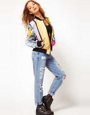 Image 4 ofMartine Rose For ASOS Printed Bomber Jacket