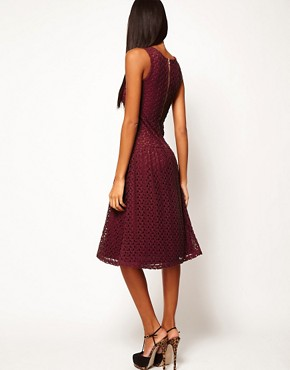 Image 2 ofASOS Midi Dress In Crochet Lace
