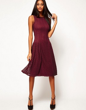 Image 4 ofASOS Midi Dress In Crochet Lace