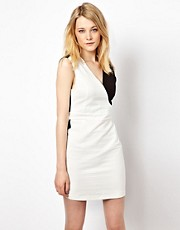 Vila Monochrome Bodycon Dress