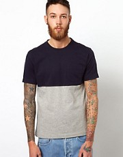 YMC T-Shirt With Contrast Panel
